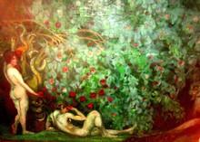 Boris Israelewitsch ANISFELD - Pittura - ADAM AND EVE