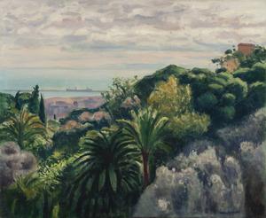 Albert MARQUET - Peinture - Jardin du palais d'été, Alger