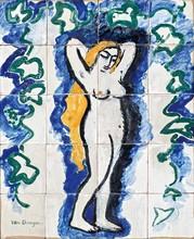 Kees VAN DONGEN - Ceramiche - Femme nue au lierre