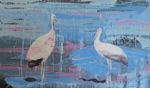 Tung-Wen MARGUE - Painting - Migrateurs