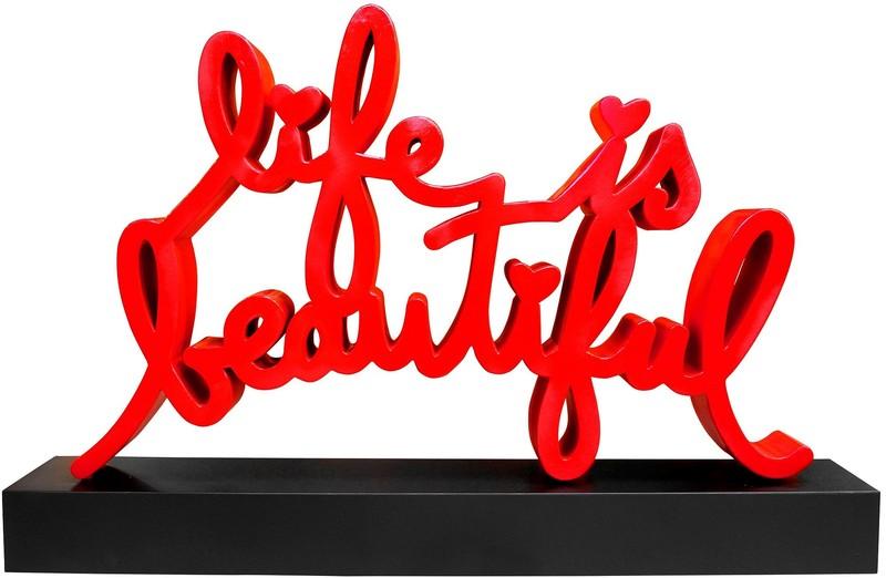MR BRAINWASH - Sculpture-Volume - Life is Beautiful Monumental Sculpture