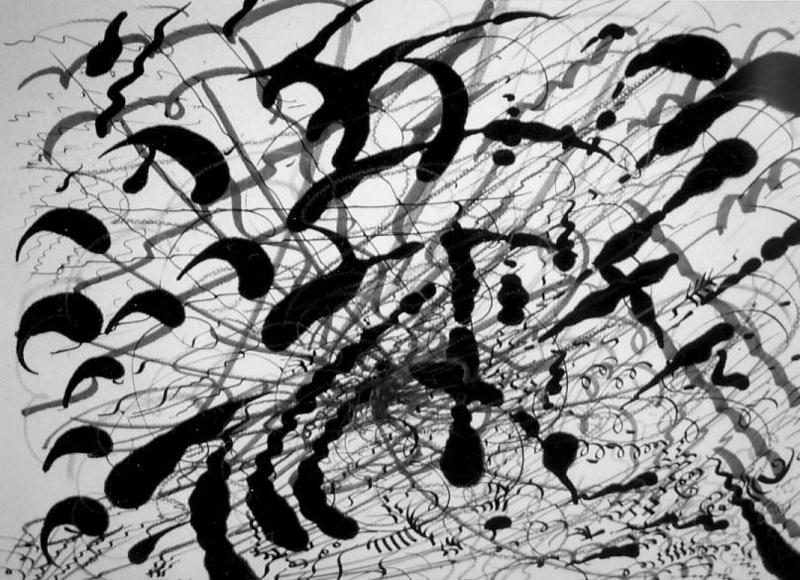 Didier ANGELS - Peinture - Série Noire 032