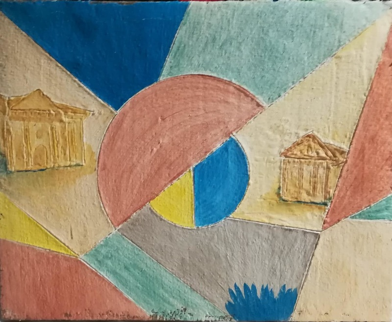 Lorena ULPIANI - Painting - Villa Thiene - fresco - Palladian atmospheres