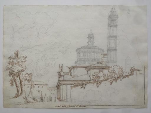 Pietro RONZONI - Dessin-Aquarelle - Chiesa della Madonna di Saronno