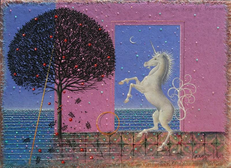 Claudio CARGIOLLI - Pintura - Stanza rosa del Liocorno