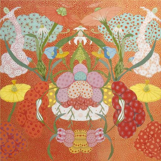 Mari ITO - Painting - Origen del deseo - arcoiris rojo