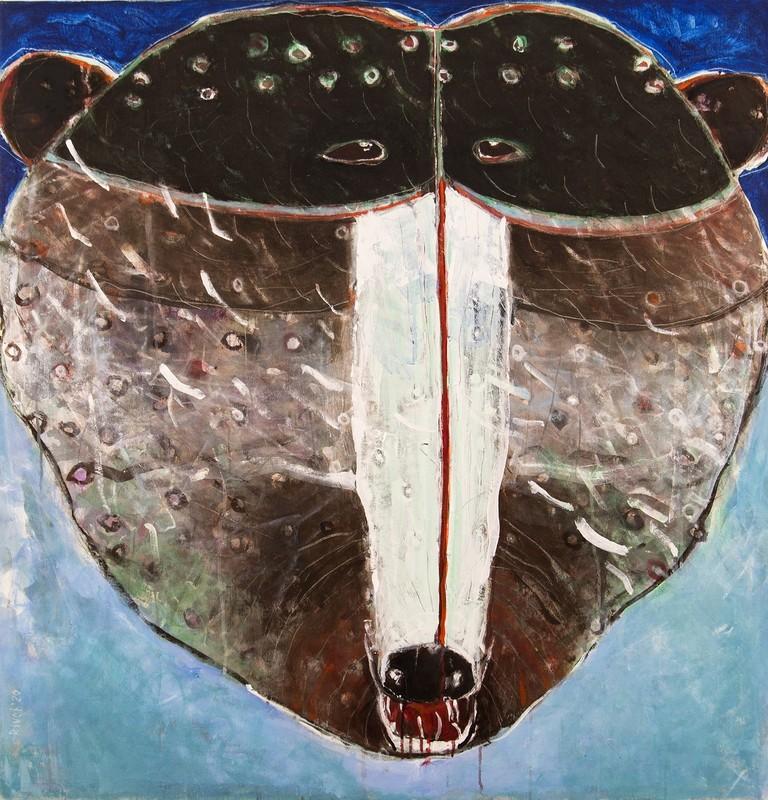 Rick RIVET - Pittura - Rain Face Grizzly