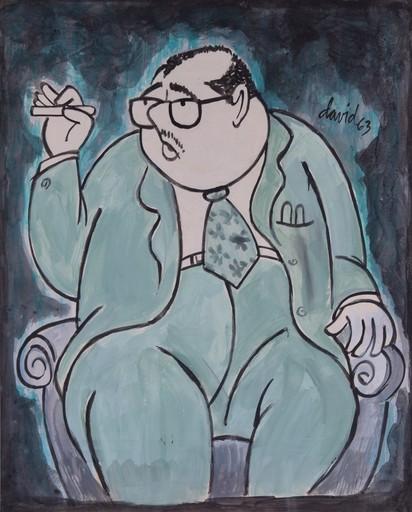Juan DAVID - Pintura - Jose Lezama Lima Caricature