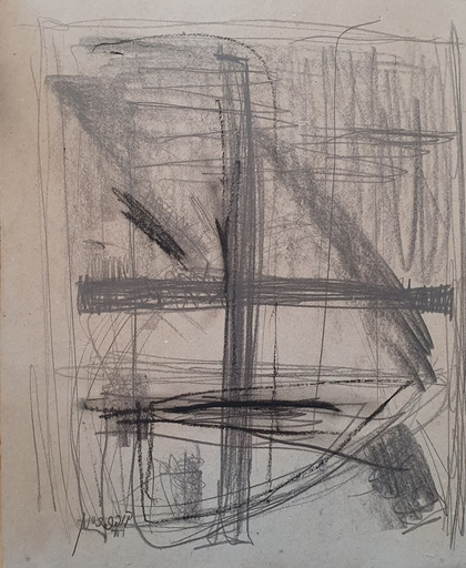 Moshe KUPFERMAN - Drawing-Watercolor - Composition, 1977
