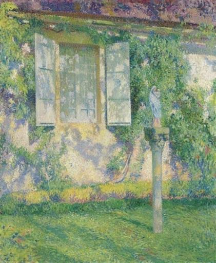 Henri MARTIN - Painting - Outside the Window, Marquarol