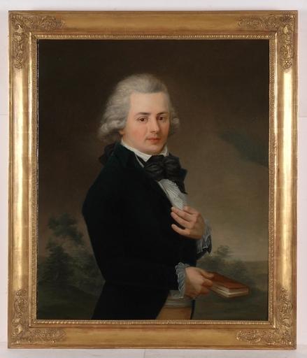 "Johann TISCHBEIN (Attrib.) - Painting - ""Portrait of a Young Gentleman"", Oil on Canvas"