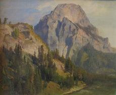 Anton HANSCH - Painting - Gebirgslandschaft