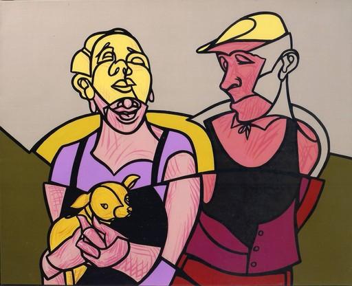 Valerio ADAMI - Painting - Honeymoon honeymoon