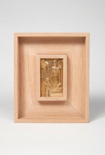 Gustave MIKLOS - Sculpture-Volume - Plaque commémorative pour l'inauguration de la raffinerie de