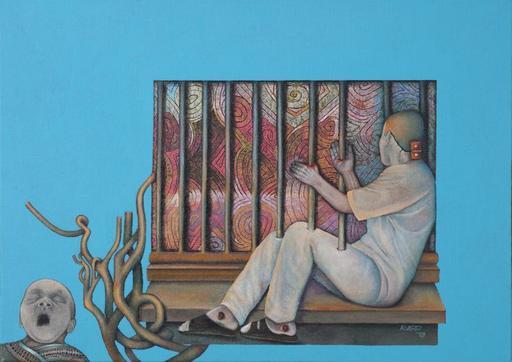Katrin ALVAREZ - Painting - Lebenslänglich (Lifelong)