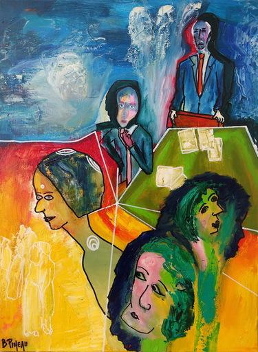 Bernard PINEAU - Painting - H143  Matsarya (La ruse)