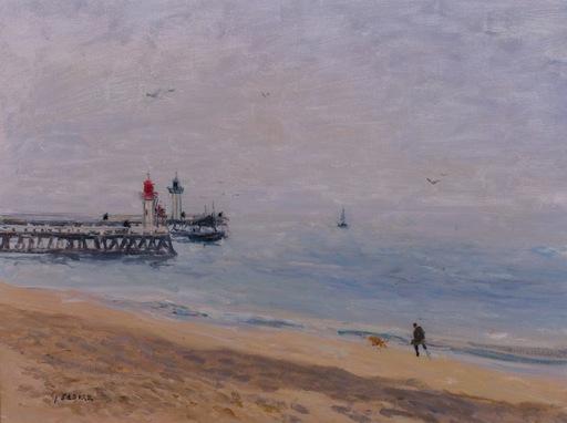 Gaston SEBIRE - Peinture - Brume Matinale a Trouville