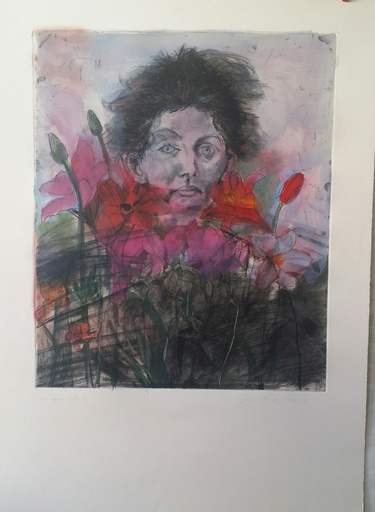 Jim DINE - Stampa Multiplo - NANCY  OUTSIDE IN JULY VI  FLOWERS  OF  THE HOLY  LAND