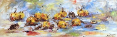Diana MALIVANI - Painting - Little Mice and Some Medlars