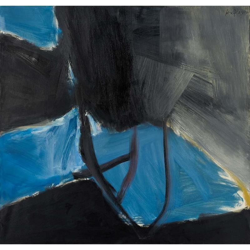 José GUERRERO - Painting - Blue and black