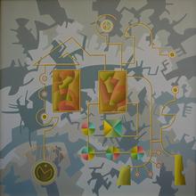 Enrique Rodriguez GUZPENA - Painting - En el interior de la edad
