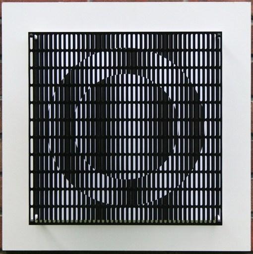 Antonio ASIS - Sculpture-Volume - Vibration cercles noir et blanc