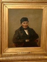 Eduard HILDEBRANDT - Pintura - Porträt eines älteren Mannes - möglicherweise Selbstporträt