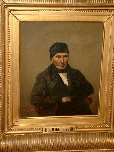 Eduard HILDEBRANDT - Painting - Porträt eines älteren Mannes - möglicherweise Selbstporträt