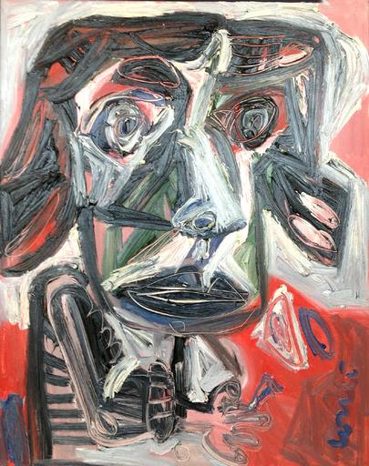 Thierry LOULÉ - Peinture - Tête de vipère
