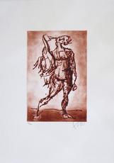Markus LÜPERTZ - Print-Multiple - Leda (rot)