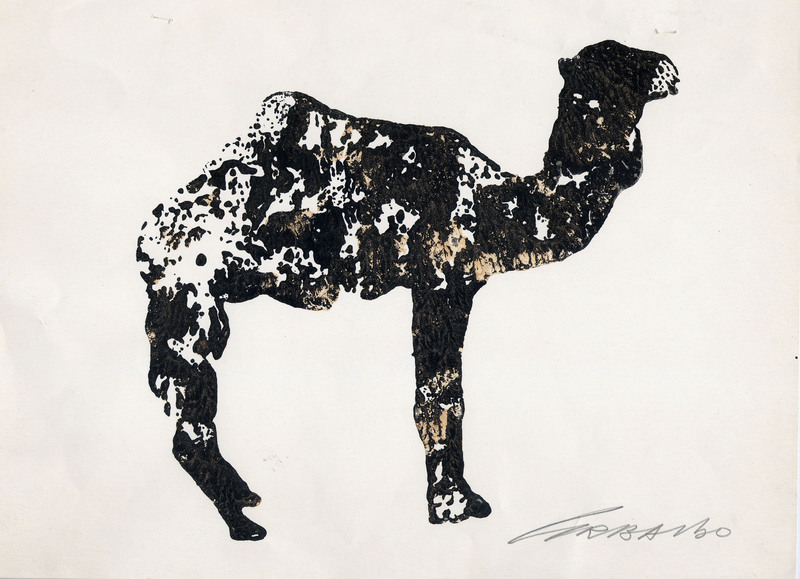 Ezio GRIBAUDO - Drawing-Watercolor - Dromedario