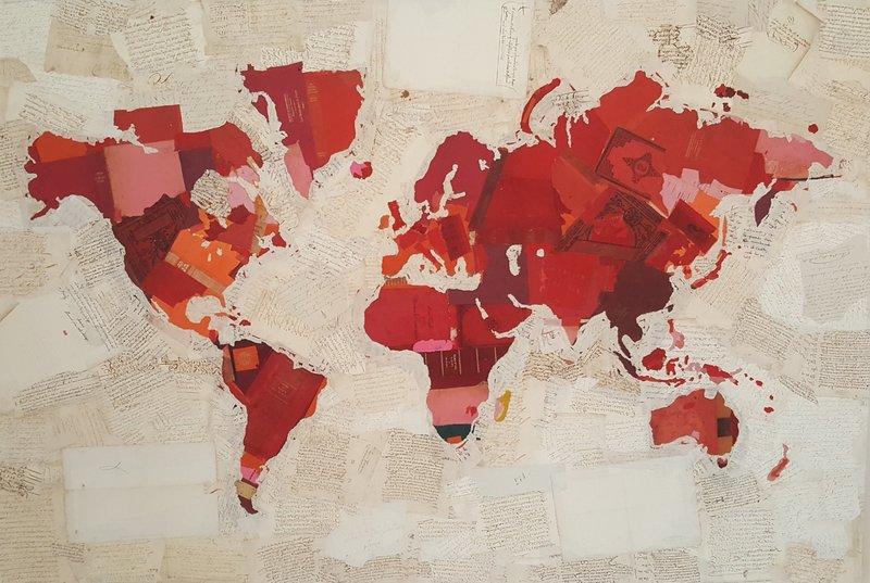 Fernando ALDAY - Painting - Mapa de la rosa