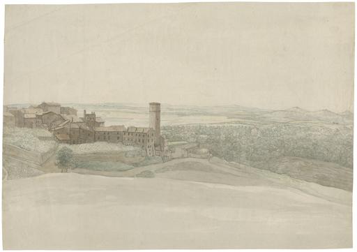 Johann Martin VON ROHDEN - Disegno Acquarello - Ausblick von Tivoli.