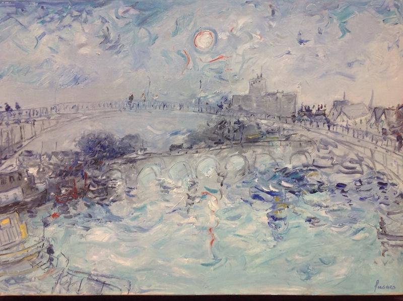Jean FUSARO - Pintura - L'Yonne ensoleillée