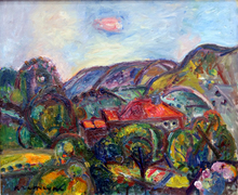 Pinchus KREMEGNE - Peinture - Paysage Valonné