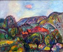 Pinchus KREMEGNE - Pintura - Paysage Valonné