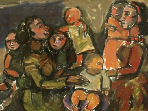 Pinchas LITVINOVSKY - Pintura - Mothers and Children