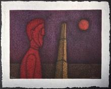 Rufino TAMAYO - Estampe-Multiple - Figura en Rojo