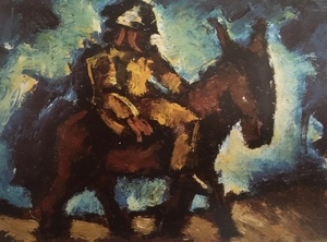 Josef HERMAN - Painting - Man with a Donkey