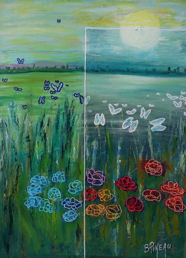 Bernard PINEAU - Painting - H055 Filtres