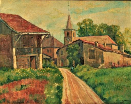 Henri GOERG - 绘画 - Village près  de Genève