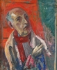 """Frederick SERGER - Painting - """"Self-portrait"""", 1957, oil painting"""