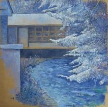 Carlos ESTEBAN - Painting - Sur l'Andelle (bleu)    (Cat N° 3455)