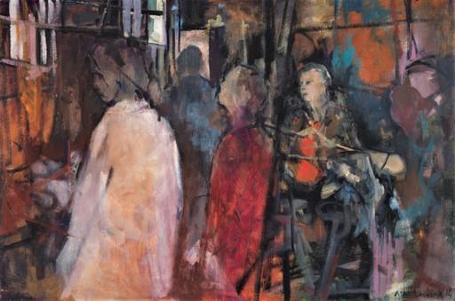 Carole MELMOUX - Painting - Atelier Rouge