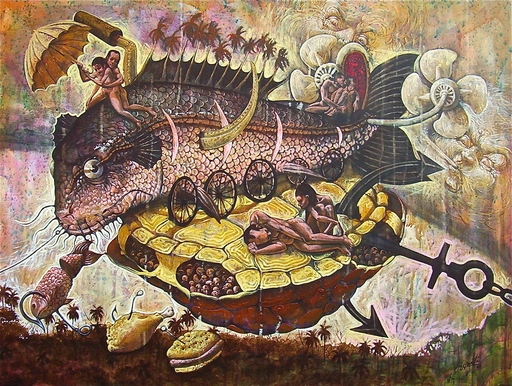 Victor HUERTA BATISTA - Pintura - Series de la barca de mi fantasia #1