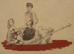 Vladimir KOLESNIKOV - Painting - La Nona Ora