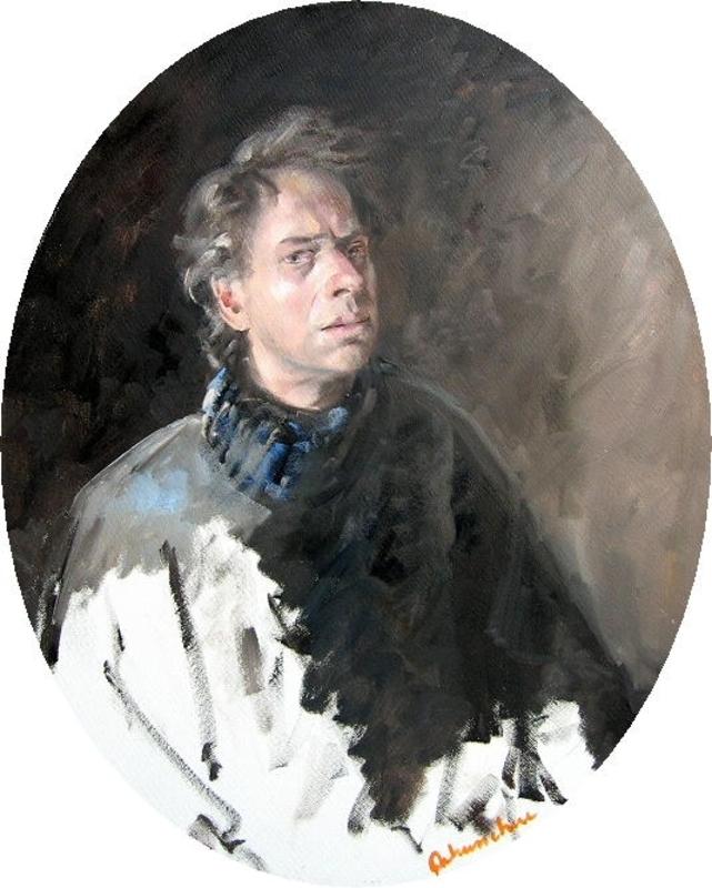 Christoff DEBUSSCHERE - Peinture - Autoportrait