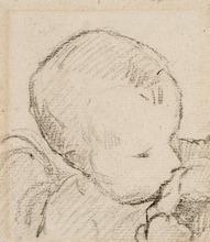 Paul GAUGUIN - Disegno Acquarello - Aline, the Artist's Daughter (Aline, la Fille de l'Artiste)