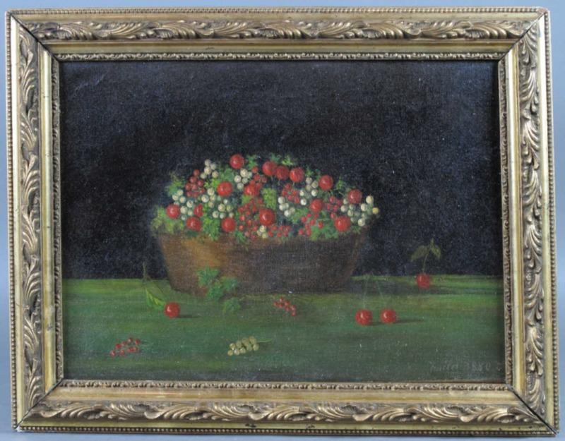 LE DOUANIER ROUSSEAU - Peinture - Nature morte au panier de cerises