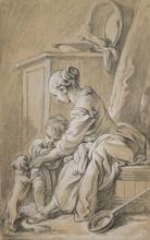 François BOUCHER (1703-1770) - Tendresse maternelle